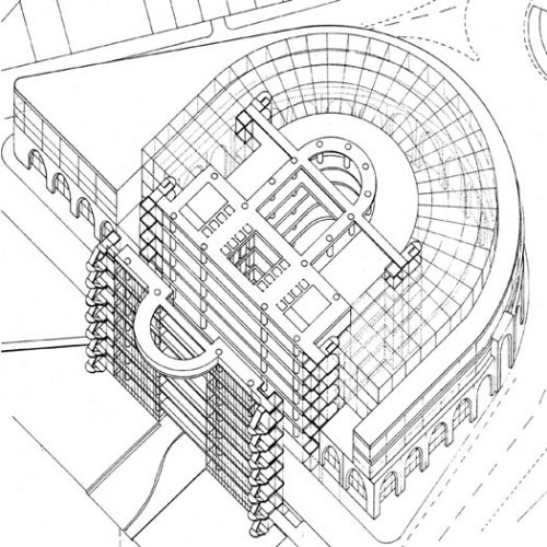 Central House: Axonometric