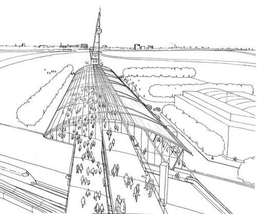 Stratford International Station: Aerial perspective 1