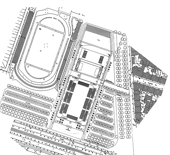 Leipzig Indoor Sports Arena: Site plan