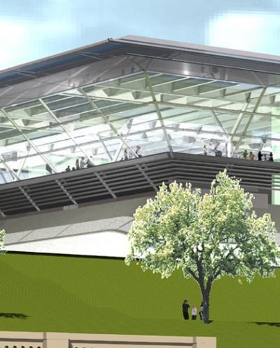 Crystal Palace Leisure Development: Corner perspective