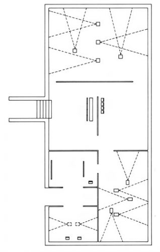 Bruce Nauman Exhibition: First floor plan