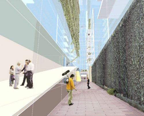 Living in the City' Competition: Internal view - landscape slice