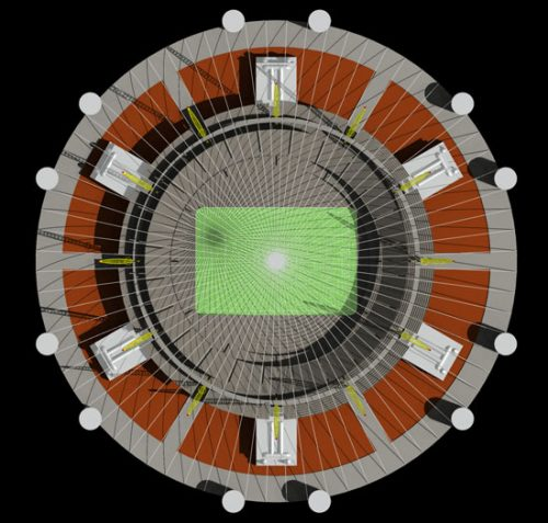 Sports Dome: Field configuration 02 plan