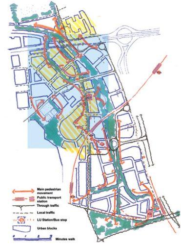 BBC White City: Movement plan