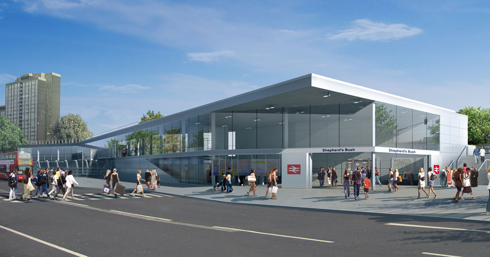 West London Line Station: Perspective (render)