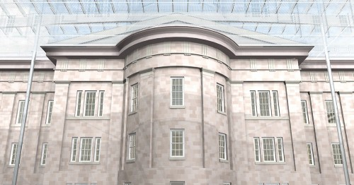 The Smithsonian: Roof and existing