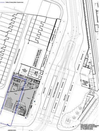 Shepherd's Bush Central Line Station: Site plan