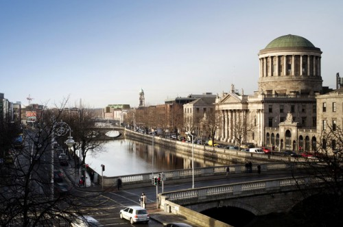 Dublin Criminal Courts: View up river