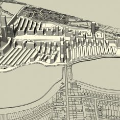 Woodberry Down Masterplan: Massing study (south)