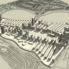 Woodberry Down Masterplan: Massing study (north)