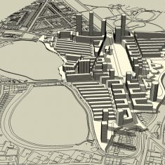 Woodberry Down Masterplan: Massing study (east)