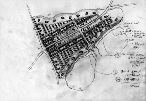 Woodberry Down Masterplan: Sketch site plan