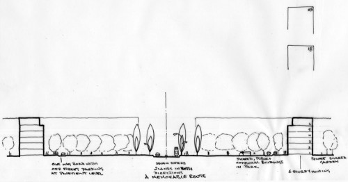 Woodberry Down Masterplan: Sketch site section