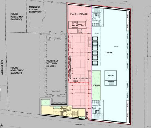 City Quay: Basement plan