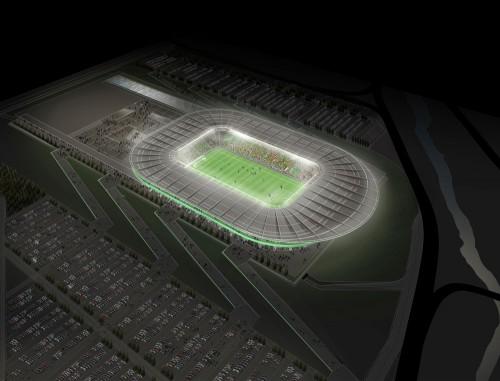 Bursa Stadium: Aerial perspective