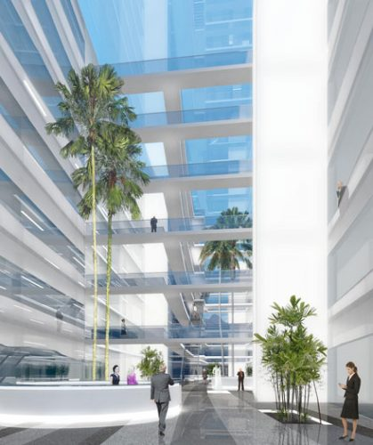 Almaty Financial District Phase 2: Internal Perspective