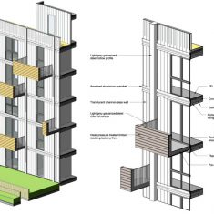 Dylon Development: Facade axonometric