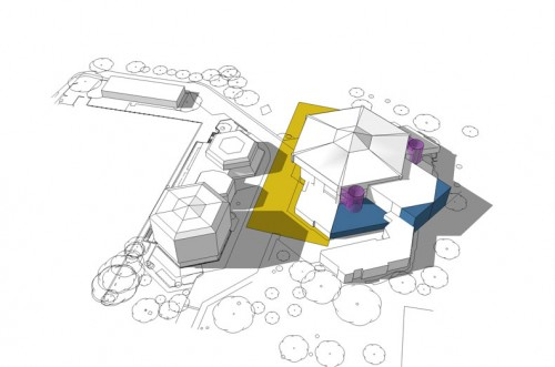 Chichester Festival Theatre: Aerial perspective option 1