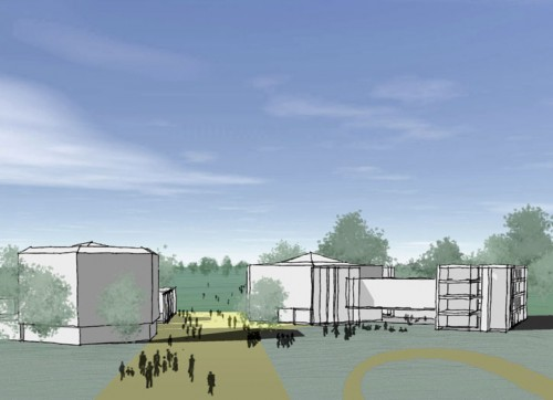 Chichester Festival Theatre: Perspective sketch