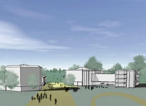 Chichester Festival Theatre: Perspective sketch