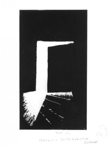 Freedom and Unity Memorial: Etching, by Ian Ritchie