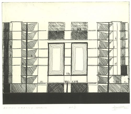 British Embassy Berlin. Etching by Ian Ritchie