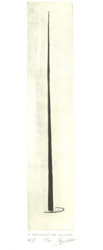 The Spire of Dublin. Etching by Ian Ritchie