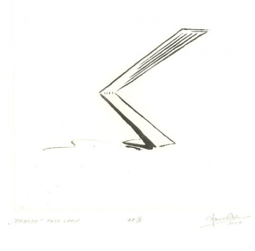 Zebede Task Light. Etching by Ian Ritchie