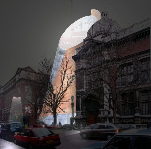 V+A Boilerhouse night (c) Ian Ritchie Architects