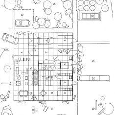 Ground plan, Fluy House, 1976