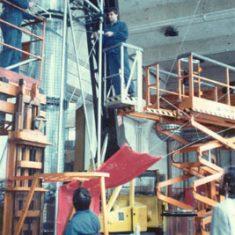 20,000 V discharge 3 D light forms, rig, 1985