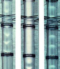 20,000 V discharge 3 D light forms, detail, 1985