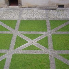Courtyard, Palazzo Abatellis in Palermo, interventions by Carlo Scarpa, 1954