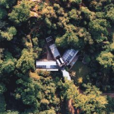 Eagle Rock House from the air, 1981