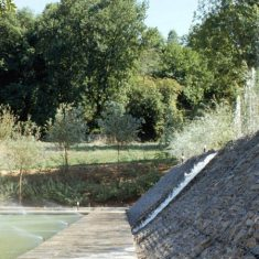 Water-gabion cascade, Terrasson Cultural Greenhouse, France, 1992-6
