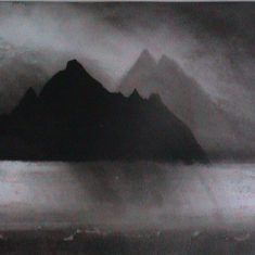 The Skelligs, etching © Norman Ackroyd