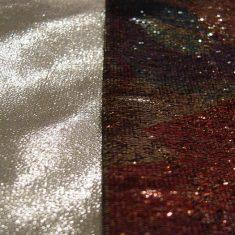 Metal deposit coatings on fabrics