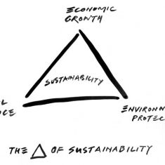 The triangle of sustainability, © Ian Ritchie 2002