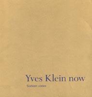 Yves Klein Now - book cover