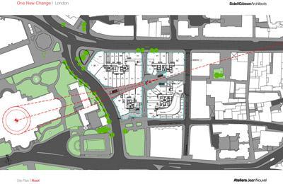 Jean Nouvel - One New Change. Site Plan