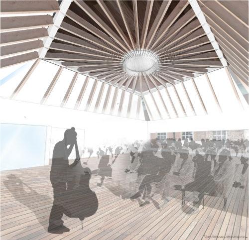 Recital Hall Interior - Concept Photomontage